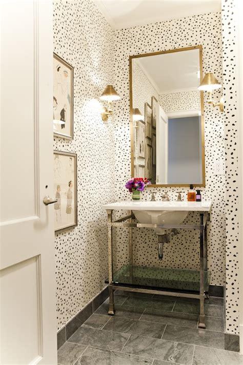dalmatian wallpaper transitional bathroom lilly bunn