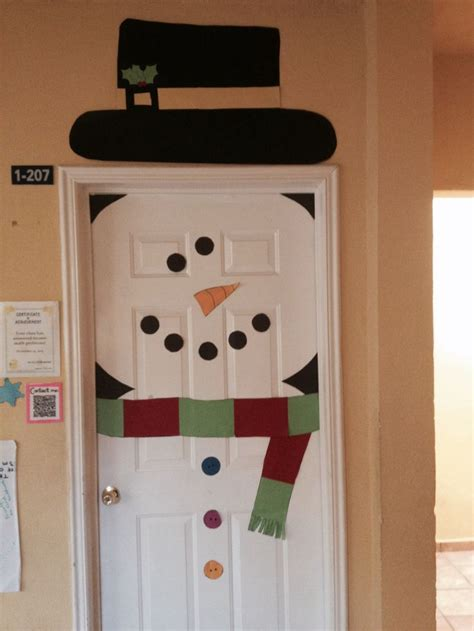 Snowman Door by Snowman Door Decoration