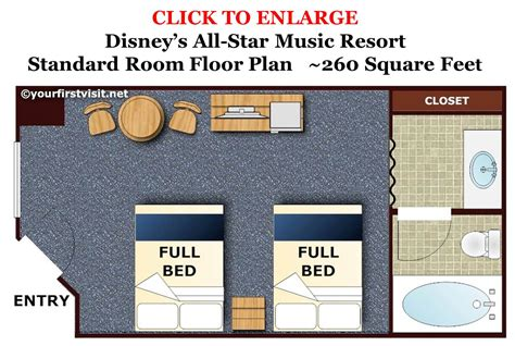 all star music suite floor plan photo tour of a standard room at disney s all star music