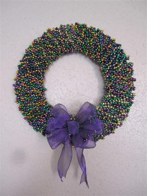 mardi gras bead wreath 22 best images about hey i made this on