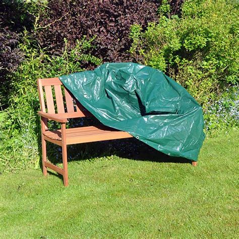 cover for garden bench kingfisher 2 seater bench cover w132 x d68 x h97cm on sale
