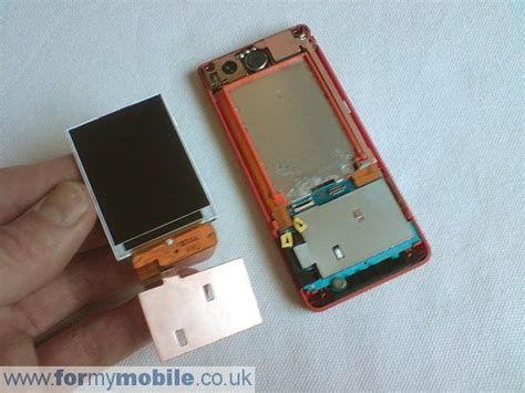 Lcd W880i sony ericsson w880i disassembly screen replacement and repair
