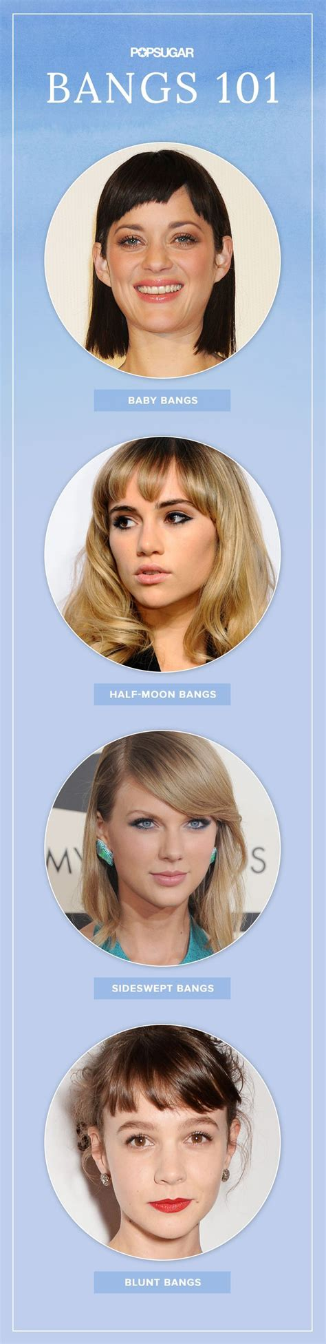 half whispy bangs cut on a slant for oval shaped faces 14 haircut buzzwords you need to know before seeing your
