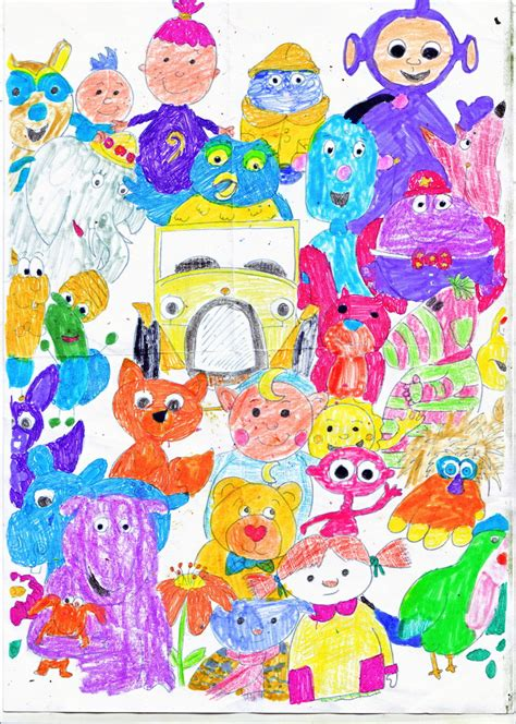 cbeebies painting cbeebies characters in color by emeraldzebra7894 on