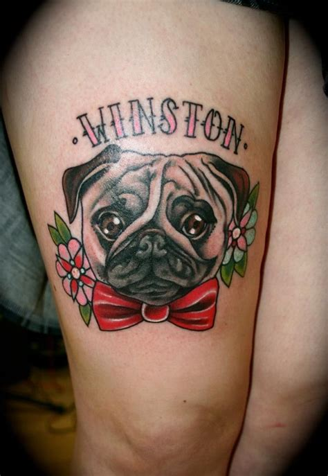 pug tattoos pug bowtie tattoos tattoos