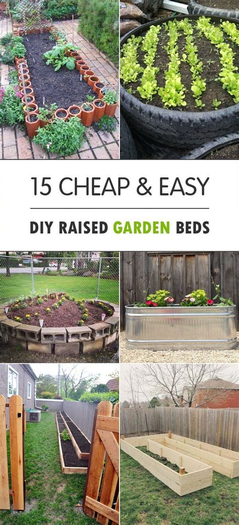Cheap Raised Garden Bed Ideas 25 Best Ideas About Cheap Raised Garden Beds On Pinterest Diy Raised Garden Beds Cheap
