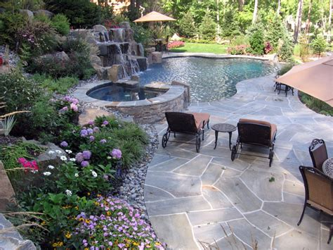 swimming pool landscaping ideas idea home landscaping pools and landscaping ideas river