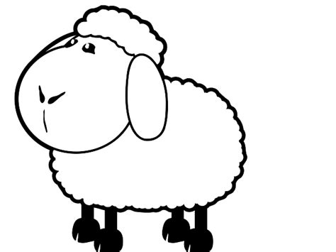 black and white sheep clipart clipart best