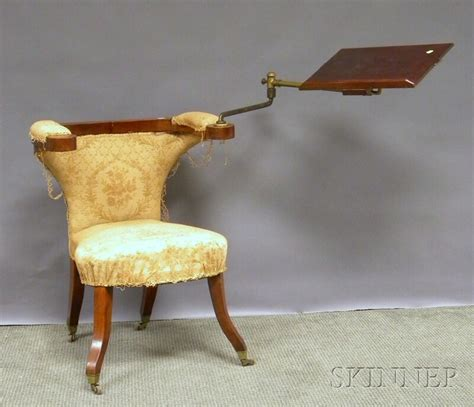 Upholstered Reading Chair Neoclassical Upholstered Fruitwood Mechanical Reading