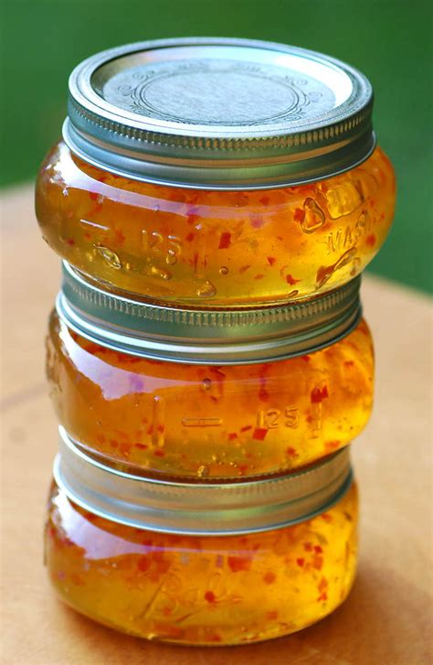 Gold Jelly savoring time in the kitchen the beautiful fall colors of and gold habanero style
