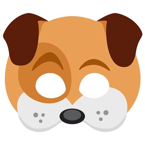 printable mask of a dog sticker timeline dog mask