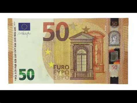 die neue  euro banknote alle sicherheitsmerkmale im
