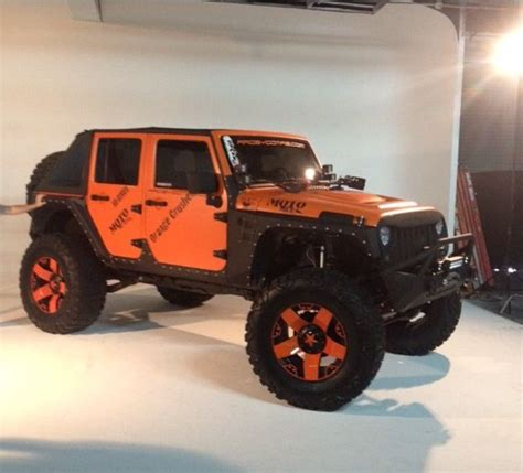 orange jeep lifted 17 best images about jeep jk orange on