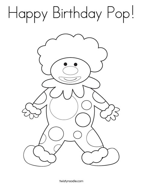 happy birthday pop coloring page happy birthday pop coloring page twisty noodle