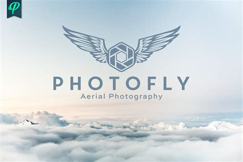 Photofly Aerial Photography Logo Logo Templates Creative Market Aerial Photography Website Templates