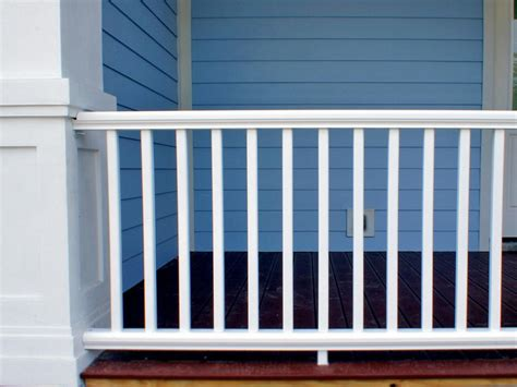 porch banister how to install a porch railing hgtv
