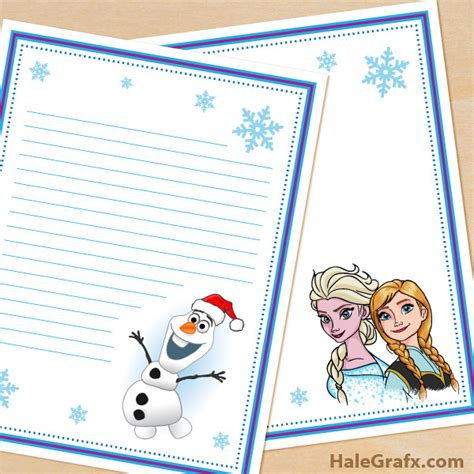 free frozen templates free printable frozen themed stationery set