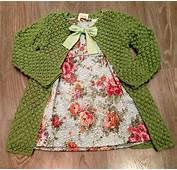 Vestidos De Bebes A Crochet Vestido Para Ni Dos Colores