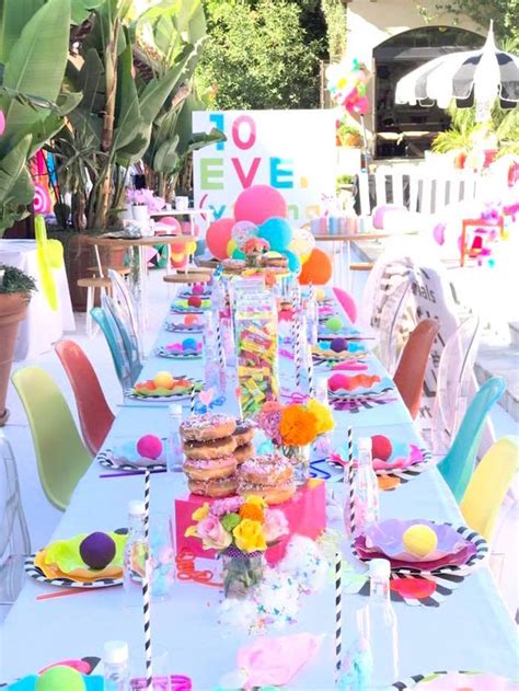 themes for a girl s 10th birthday party kara s party ideas colorful modern 10th birthday party