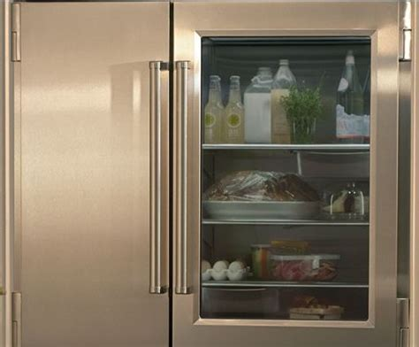 Glass Front Refrigerator For Home by Glass Front Refrigerator Style Home