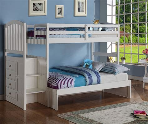 white bunk beds twin over full donco arch twin over full stair stepper bunk bed white bedroom furniture stair beds