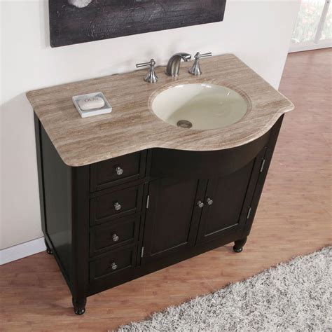 bathroom vanity with sink on right side silkroad exclusive right side 38 quot traditional single sink