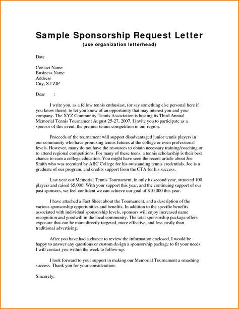 Sponsorship Request Letter For Study letter sle sponsorship letter