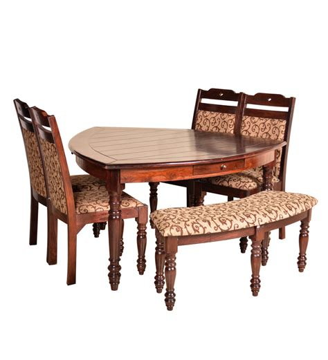 pepperfry dining table 6 seater buy hometown baylor solidwood 6 seater dining table
