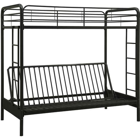 bunk bed frame with futon black metal futon bunk bed bm furnititure