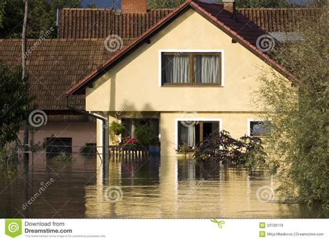 flooded house flooded house royalty free stock images image 23126119