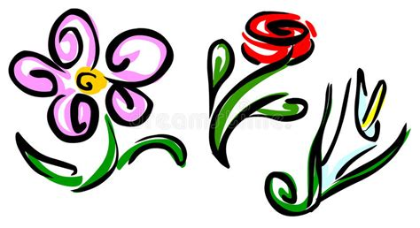clipart fiori stilizzati fiori stilizzati illustrazione vettoriale illustrazione
