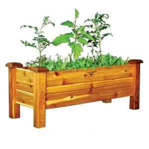 gronomics      safe finish cedar planter box pb
