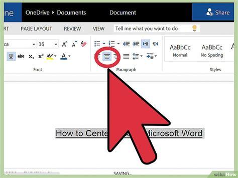alinear imagenes horizontalmente html c 243 mo centrar texto en microsoft word 10 pasos