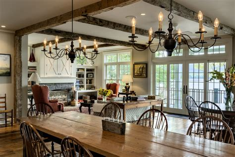 lake house dining room ideas lake house traditional dining room new york by
