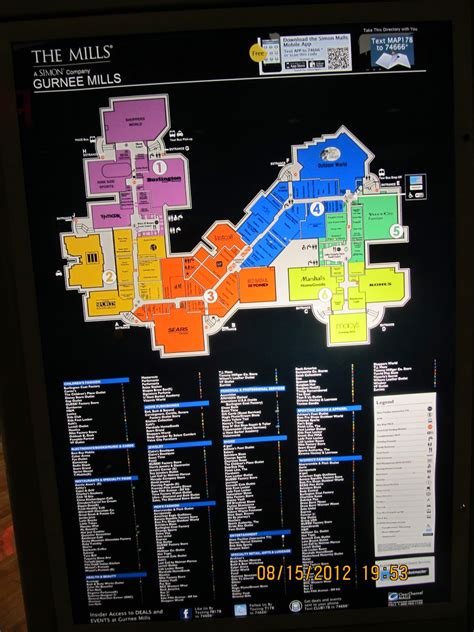 gurnee mills map map of gurnee mills stores pictures to pin on pinsdaddy