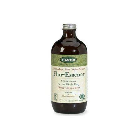 Flor Essence Detox Kit by Flora Flor Essence Liquid Tea Blend 32 Ounces