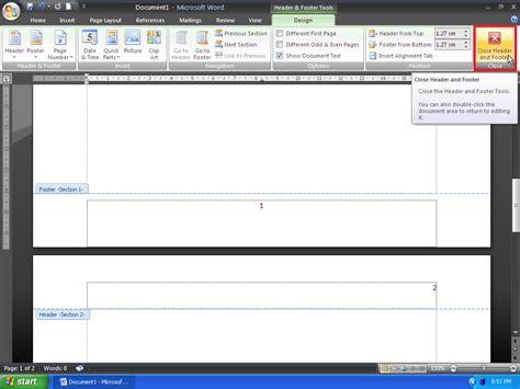 membuat halaman yang berbeda pada ms word cara membuat letak nomor halaman yang berbeda pada