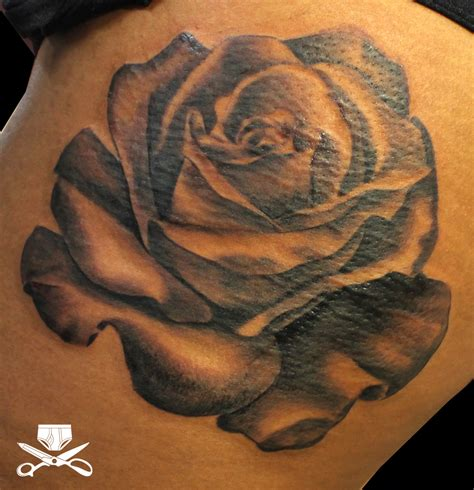 realistic black rose tattoo realistic hautedraws