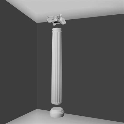 The Decorative Top Of A Column by Ki7 Ionic Style Column Fluted Barrel Wm Boyle