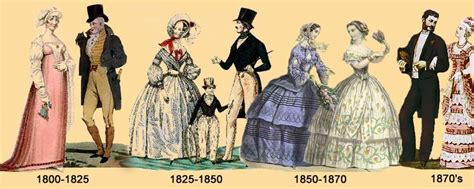 styles of the industrial revolution victorian era fashion historic clothing