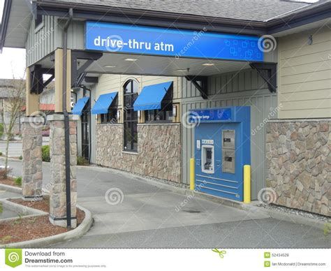 bank dr drive thru bank machine editorial stock photo image