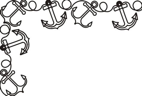 paper boat clipart black and white anchor border clipart