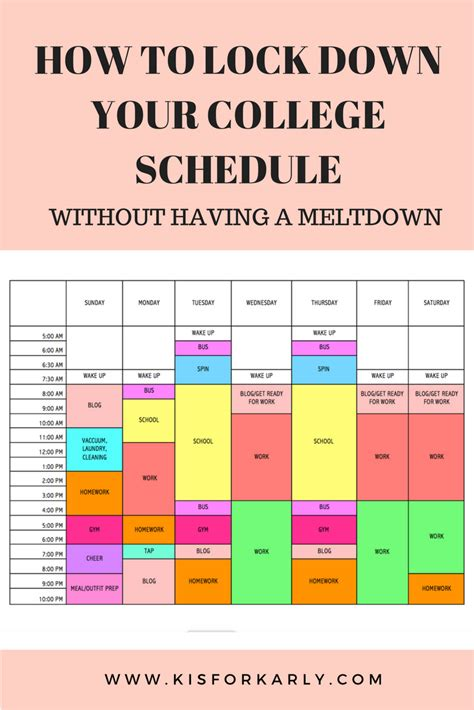 color run schedule pin by natran on organization college college schedule