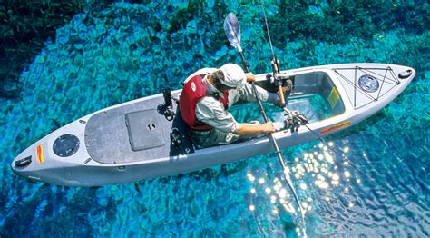 clear kayak caribe clear bottom fishing kayak