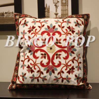 100 cotton embroidery throw pillow decorative