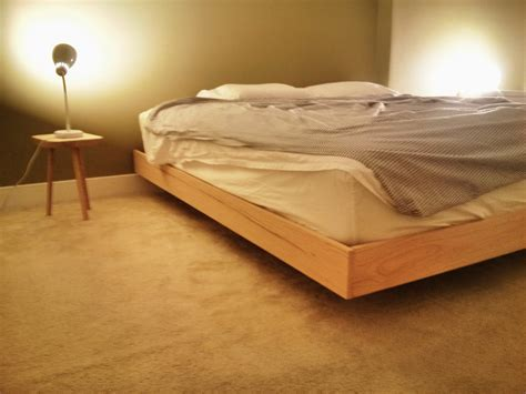 Home Made Beds by Woodwork King Size Floating Platform Bed