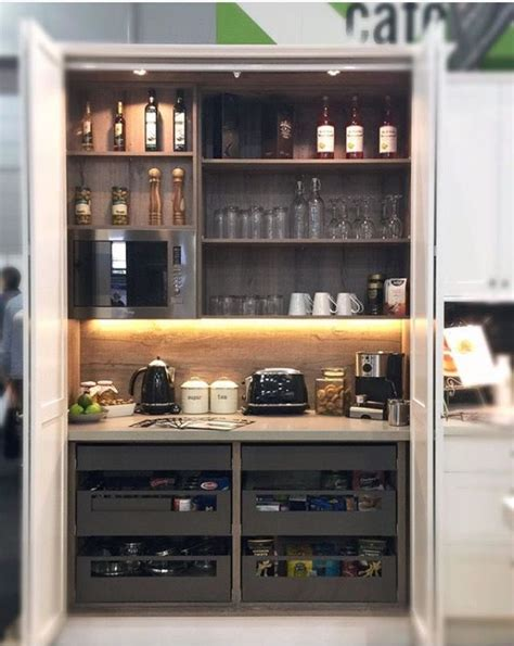 Kitchen Pantry Cupboard Designs Appliance Cupboard Coffee Machine Etc Bar Ideas Pinterest Cupboard Coffee And Website