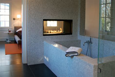 bathroom electric fireplace 20 beautiful bathroom designs with fireplaces