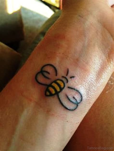 honey tattoo designs 51 excellent bee tattoos on wrist