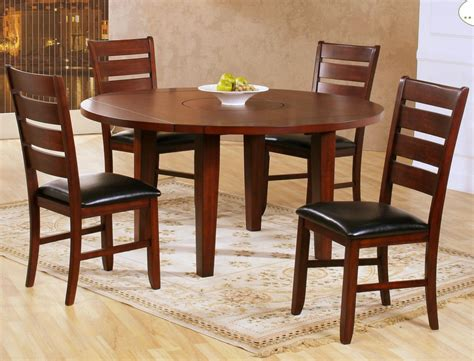 round dining room sets with leaf homelegance ameillia 5 piece drop leaf round dining room
